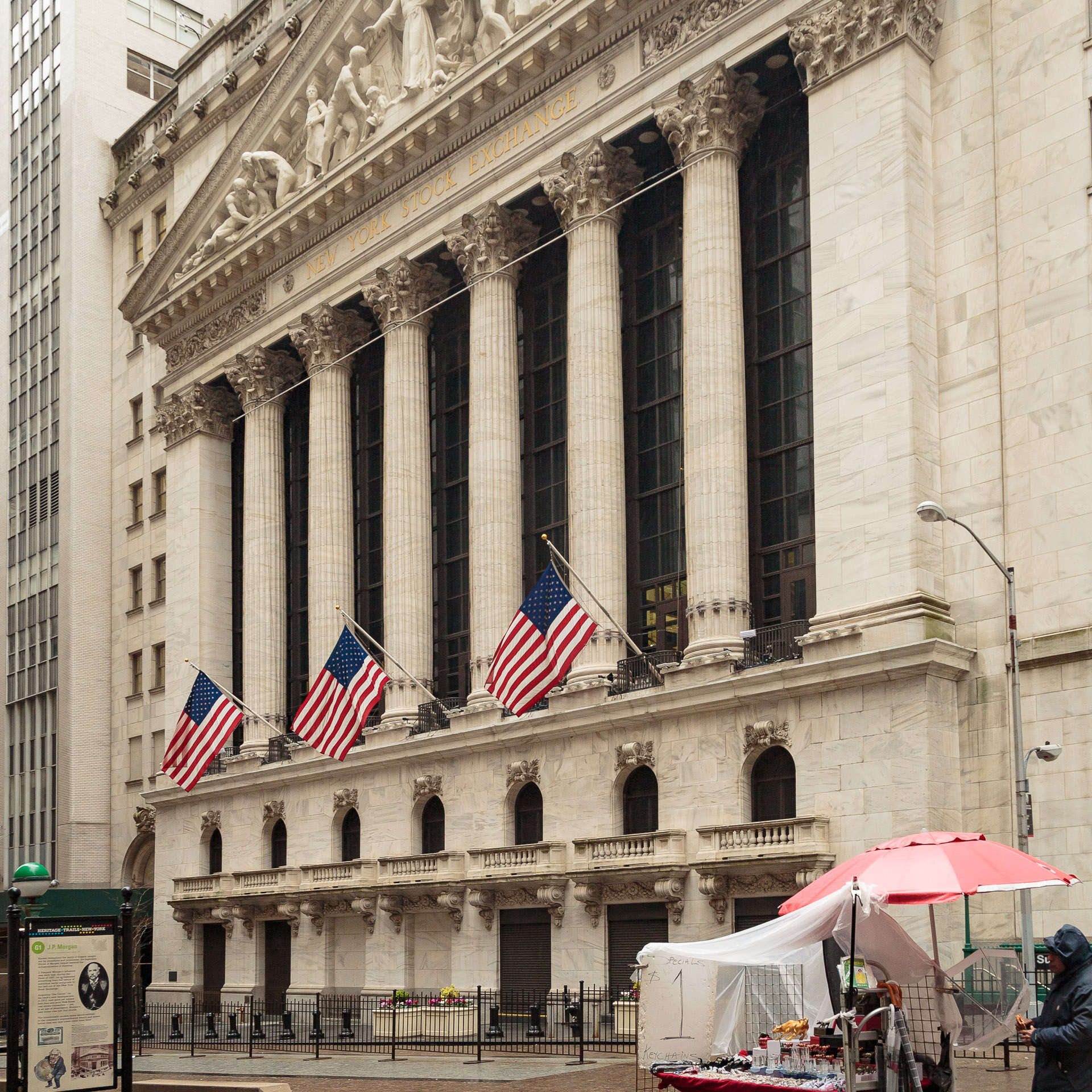 Börse in der Wall Street