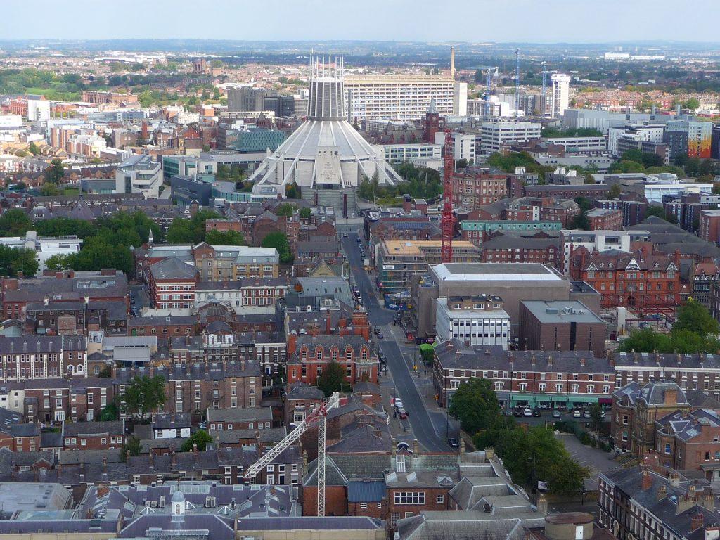 Die Innenstadt mit der katholischen Kirche