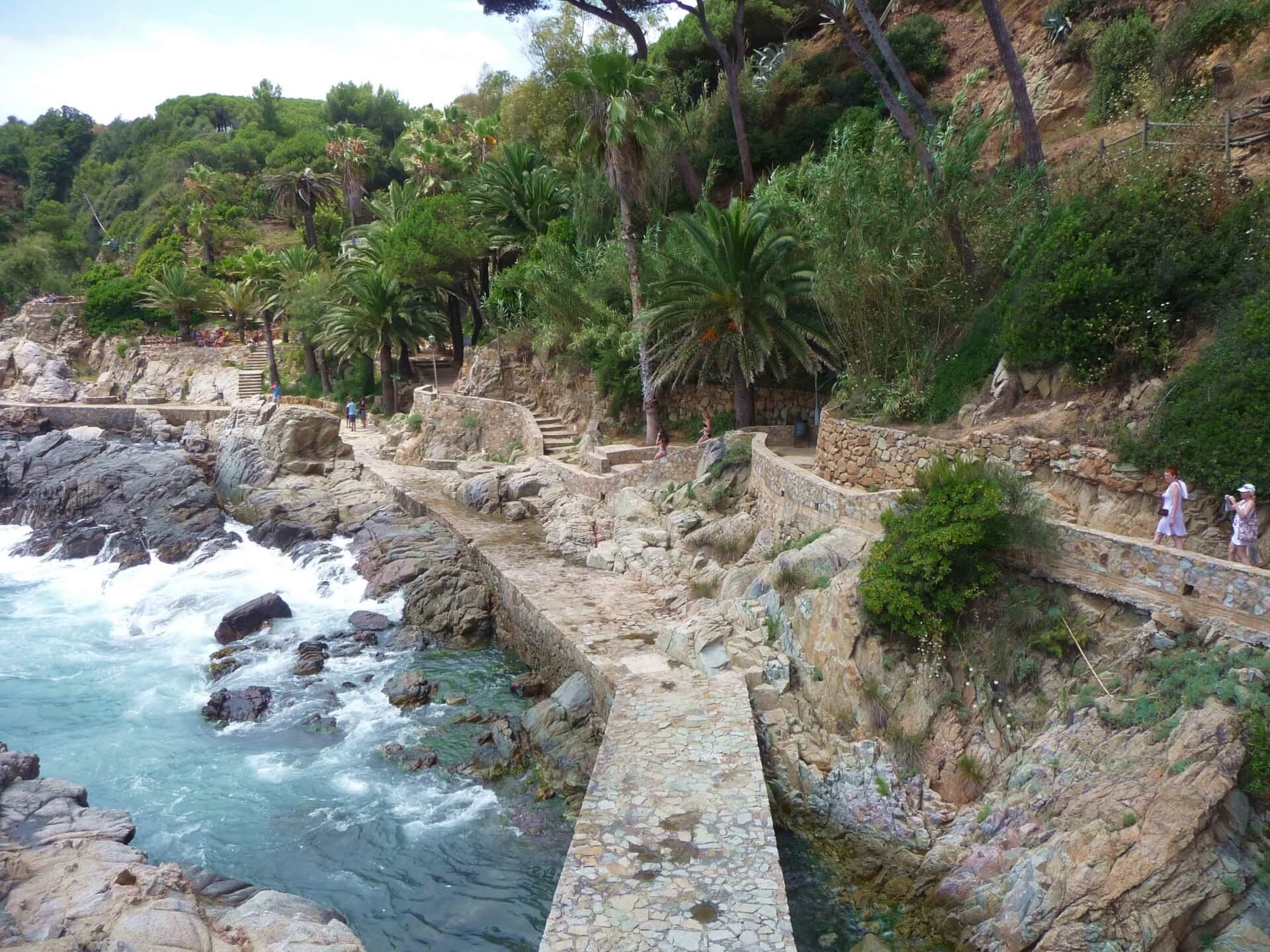 Terrassenweg in Lloret de Mar