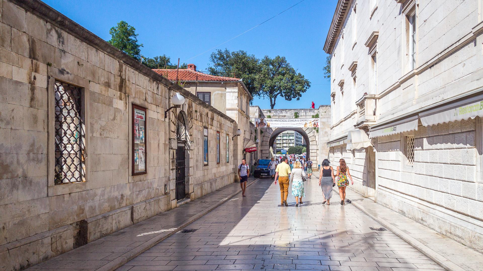 Eingang von Zadar