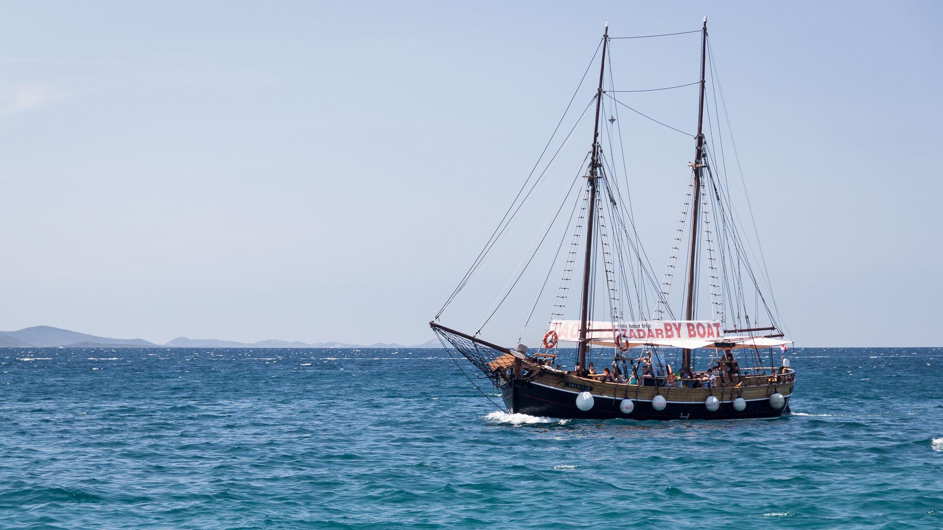 Ausflugsboot bei Zadar