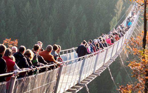 Hängeseilbrücke Geierlay, Menschenmenge