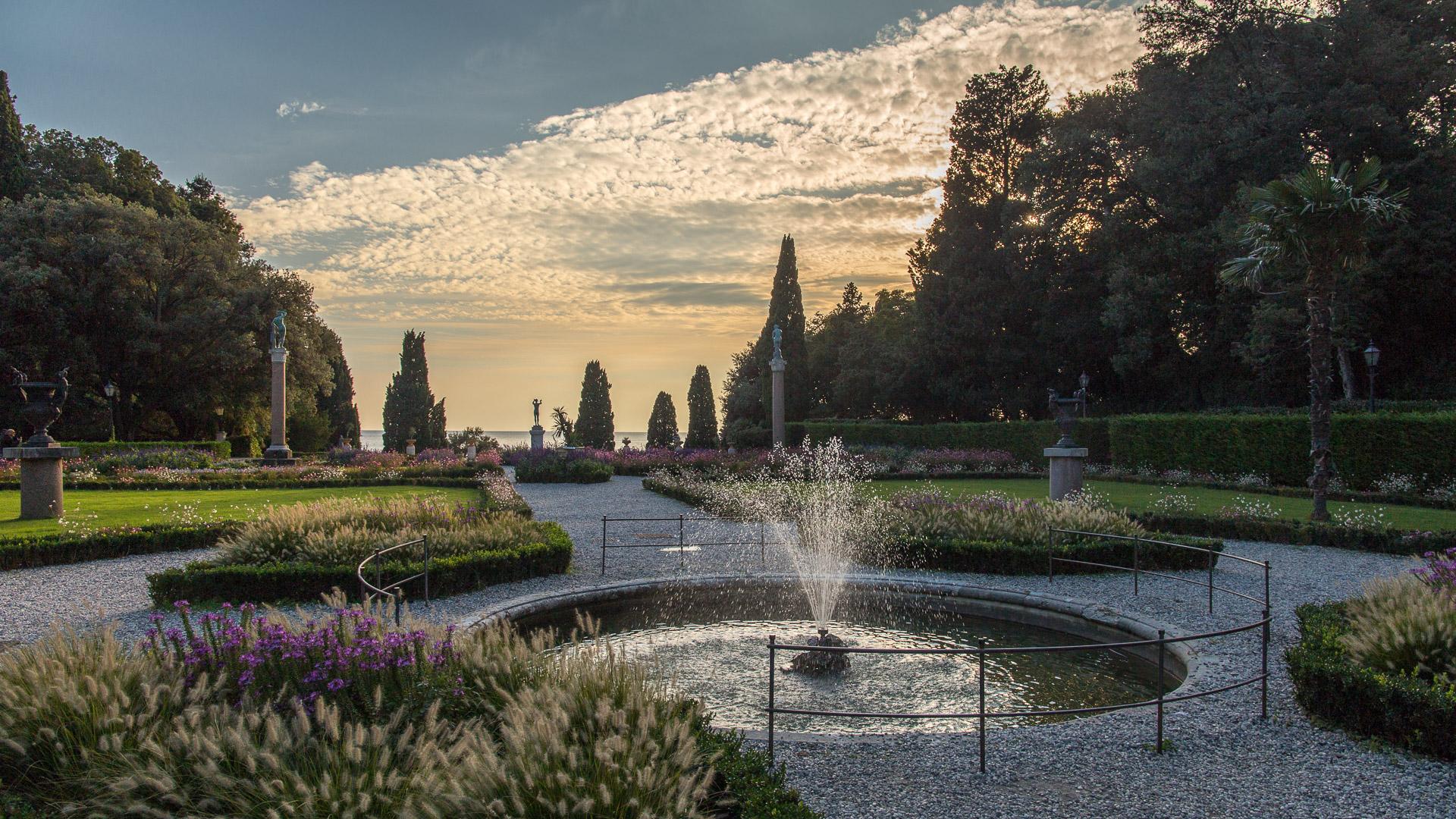 Der Garten des Castello di Miramare
