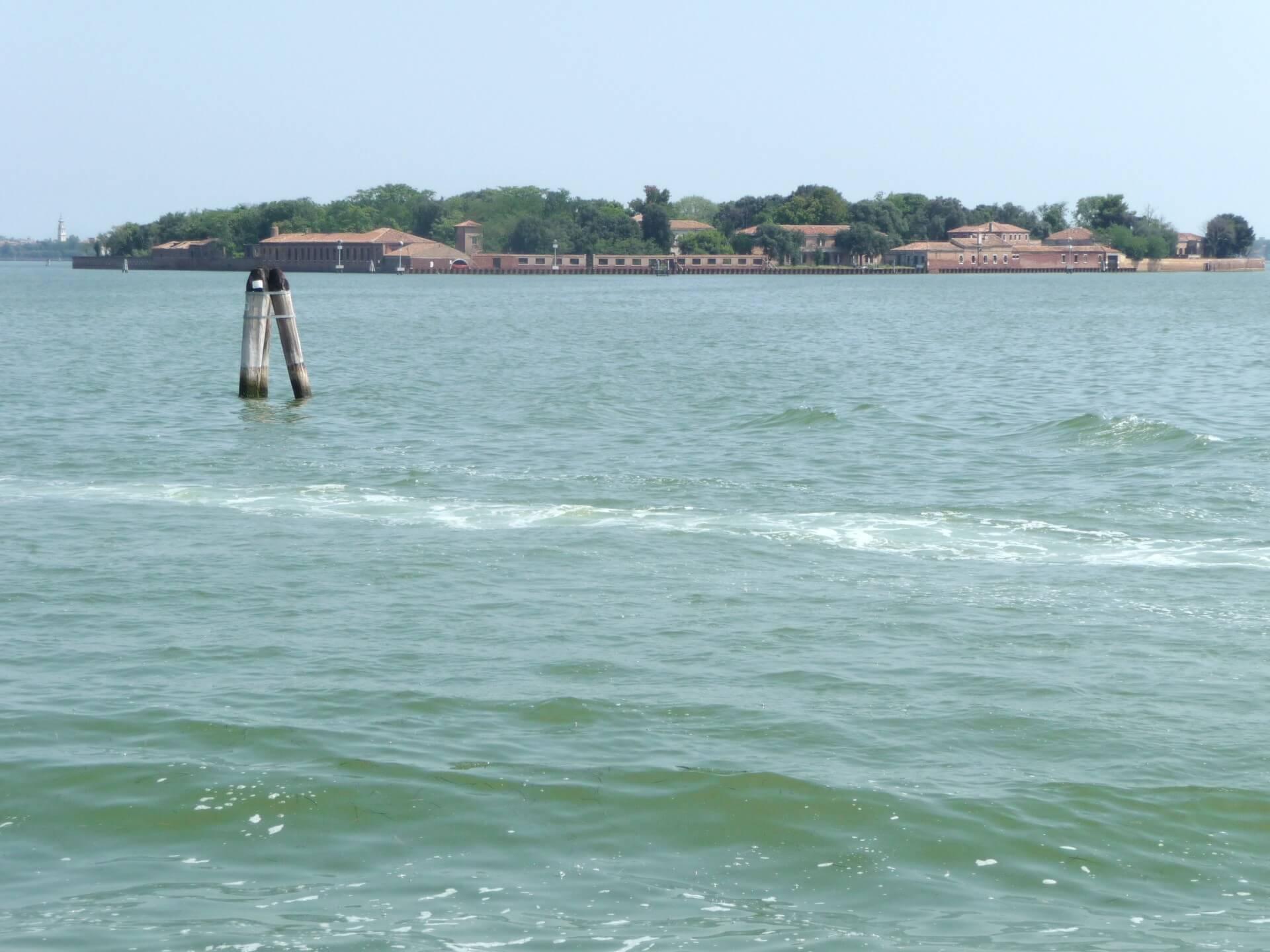 Blick zu den Hotel-Inseln Venedigs vor Giudecca