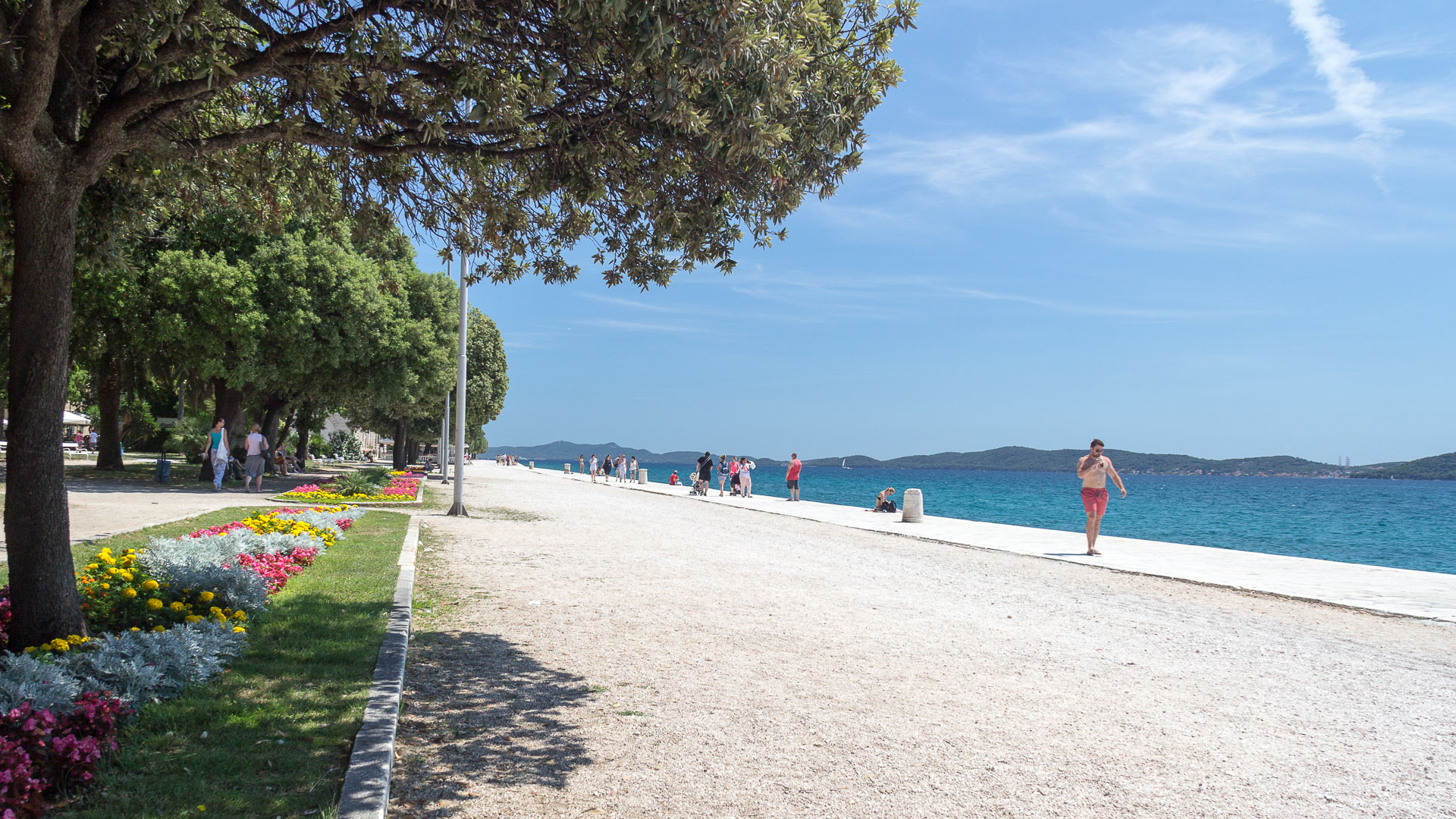 Riva, die Stadt-Promenade von Zadar