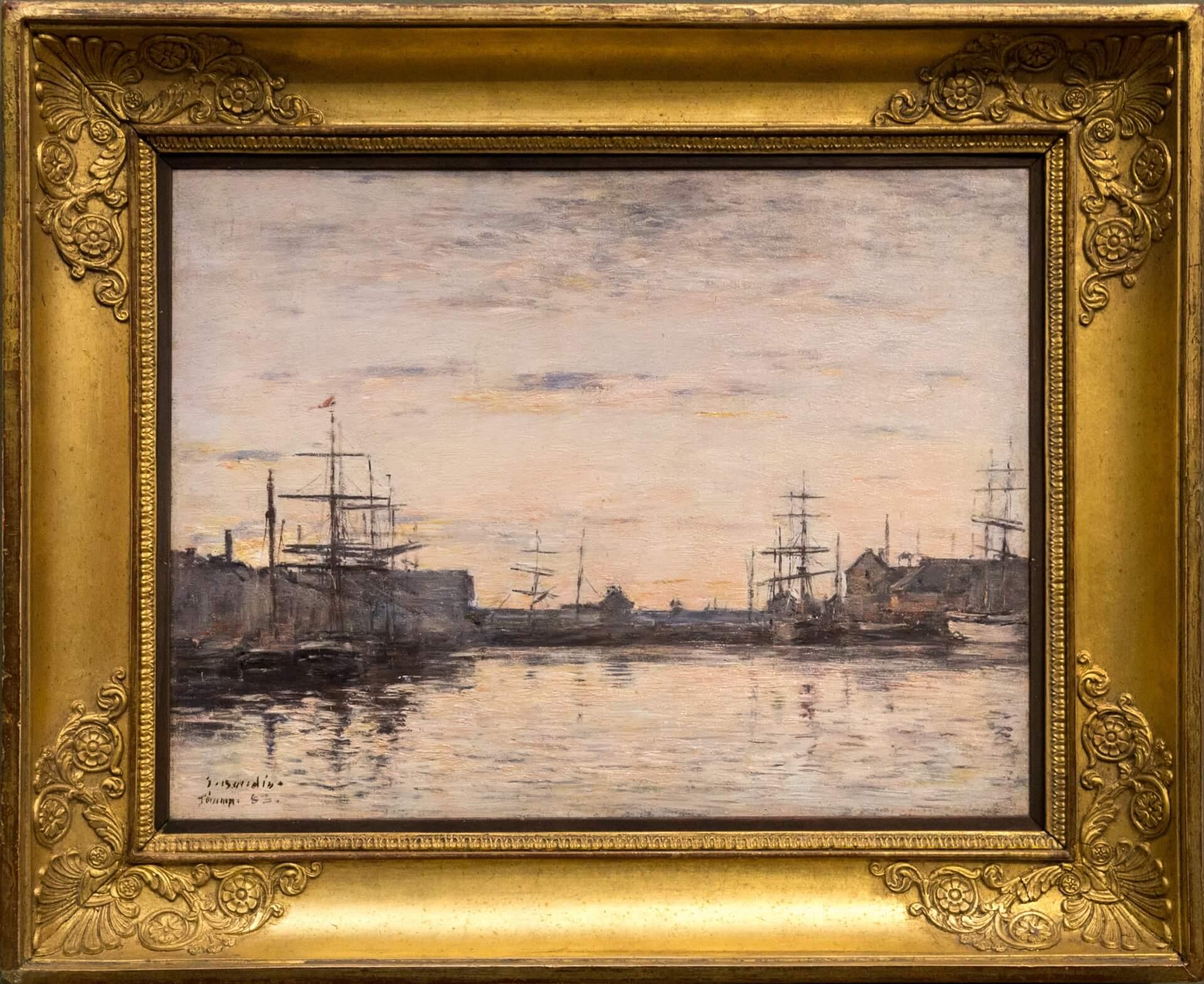 Eugène Boudin, Fécamp. Das Hafenbecken (1883)