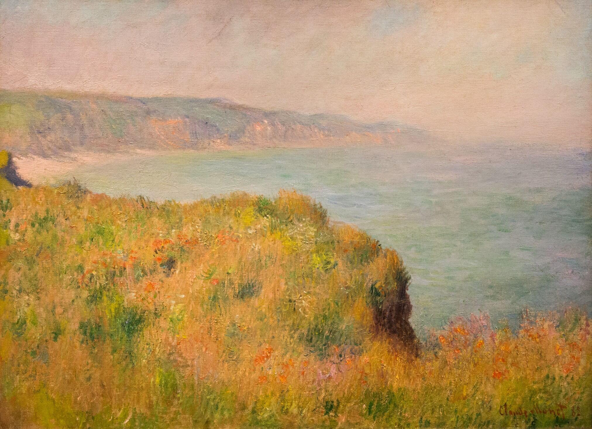 Claude Monet, Kante der Steilküste bei Pourville (1882)