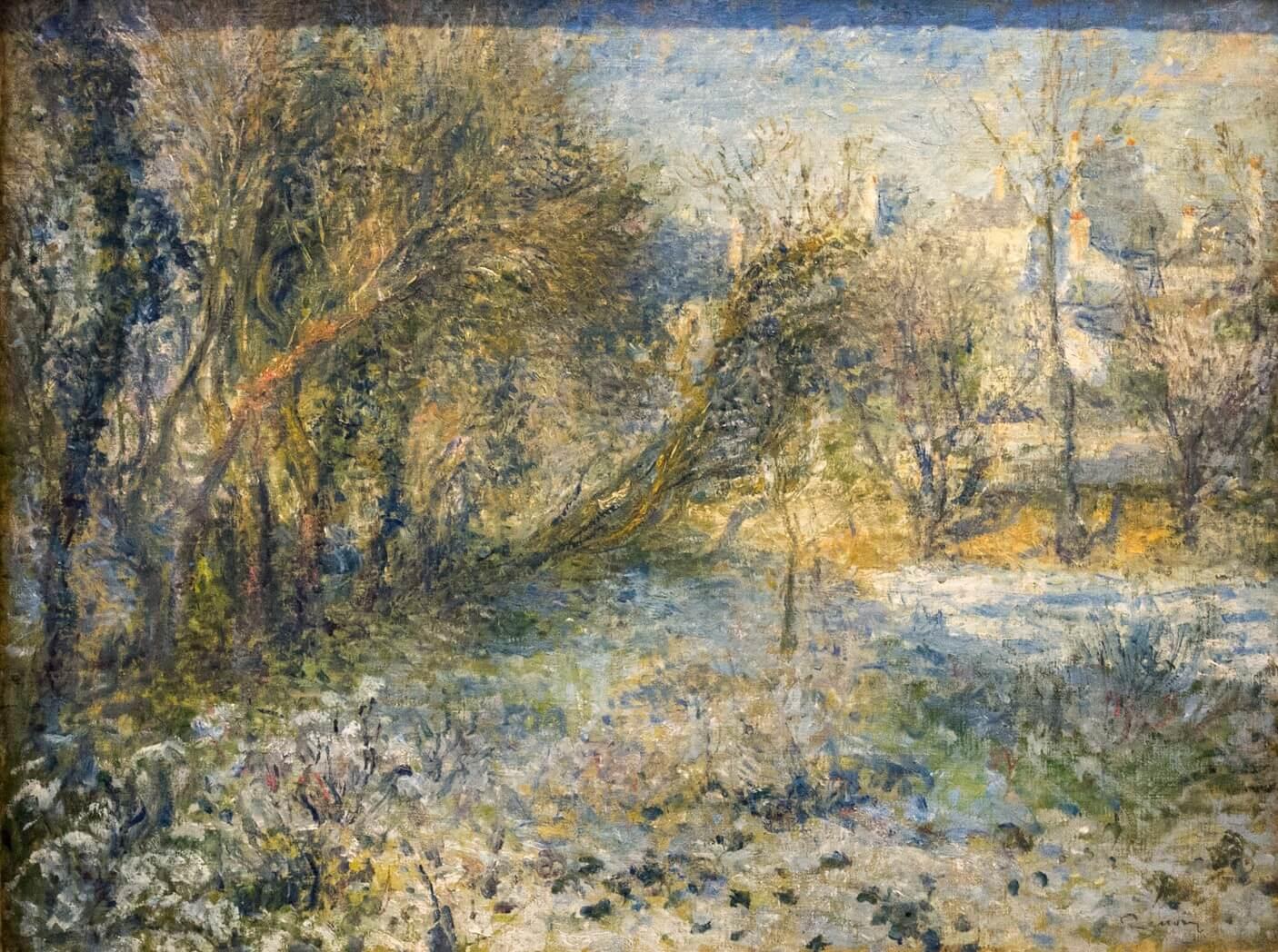 Pierre-Auguste Renoir, Schneelandschaft (1875)