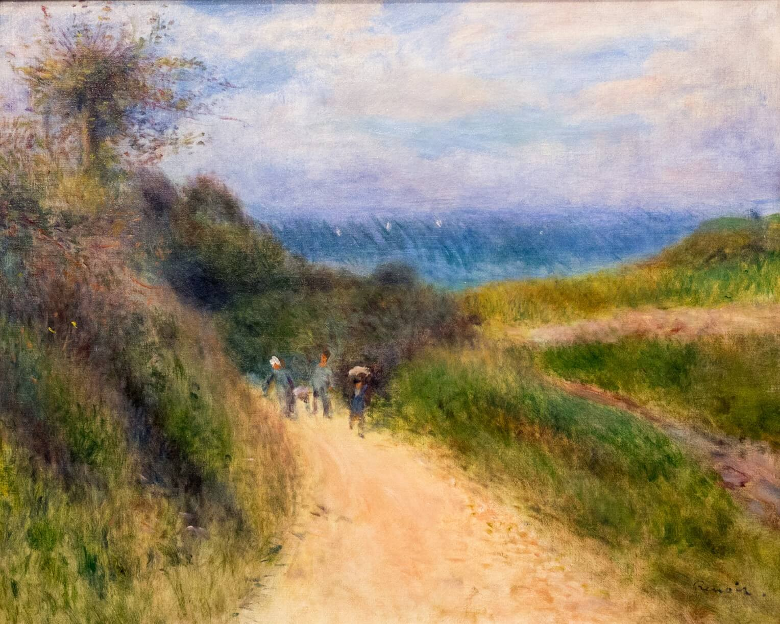 Pierre-Auguste Renoir, Strasse nach Berneval (um 1880)