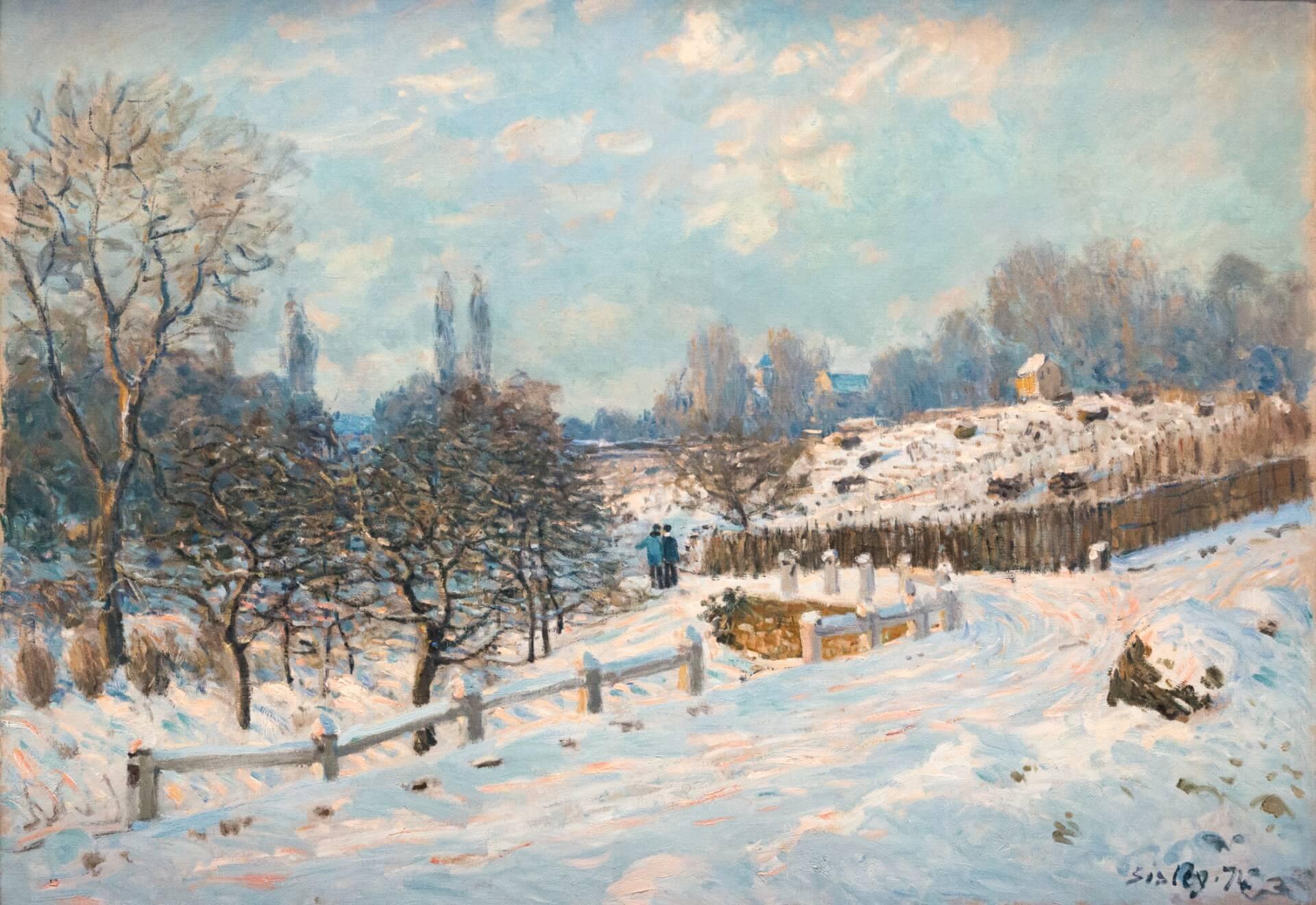 Alfred Sisley, Straße in Louveciennes, Schnee (1874)