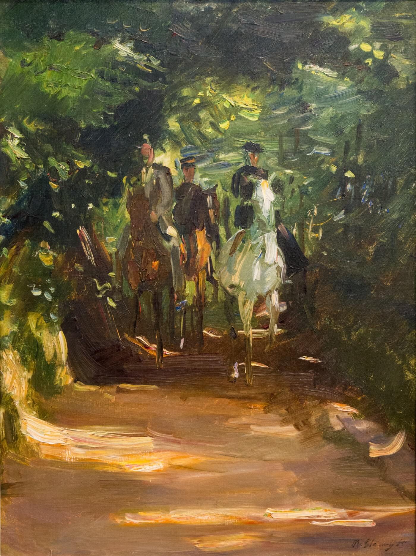Max Slevogt, Reitergruppe im Wald (1902)