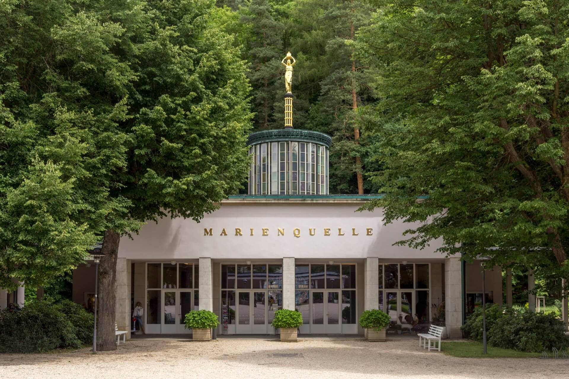 Gebäude der Marienquelle in Bad Elster