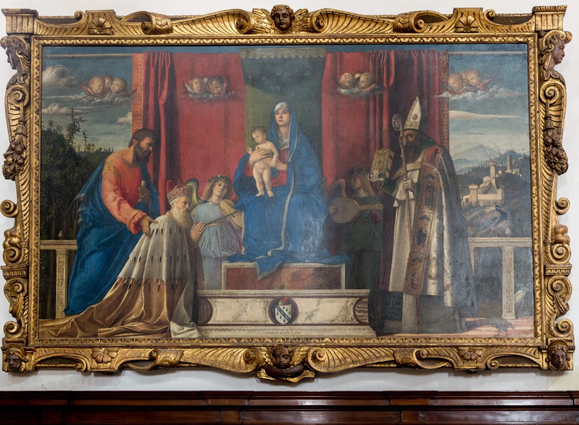 Dir thronende Madonna von Bellini in San Pietro Martire