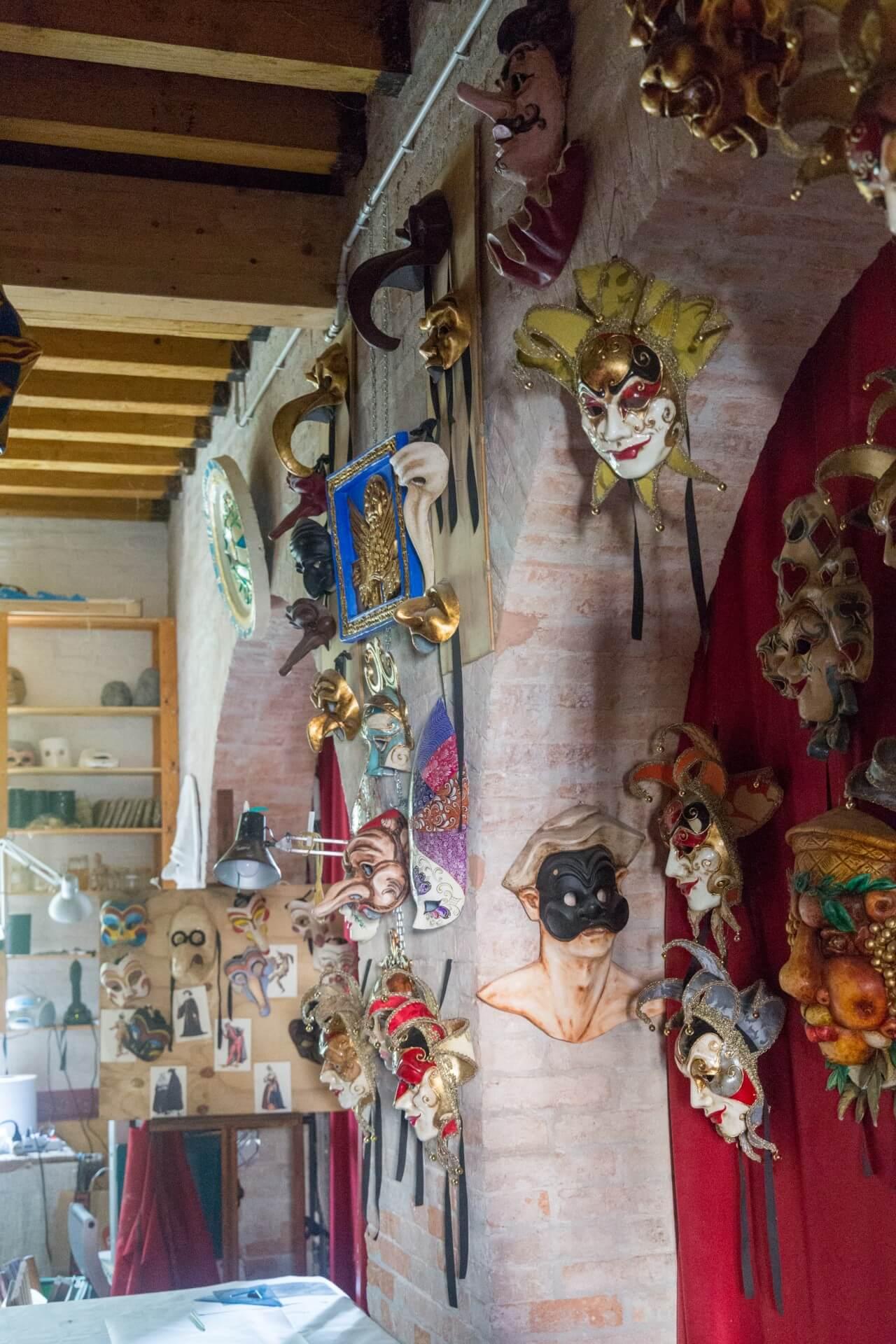 Beim heutigen Maskenmacher auf Giudecca