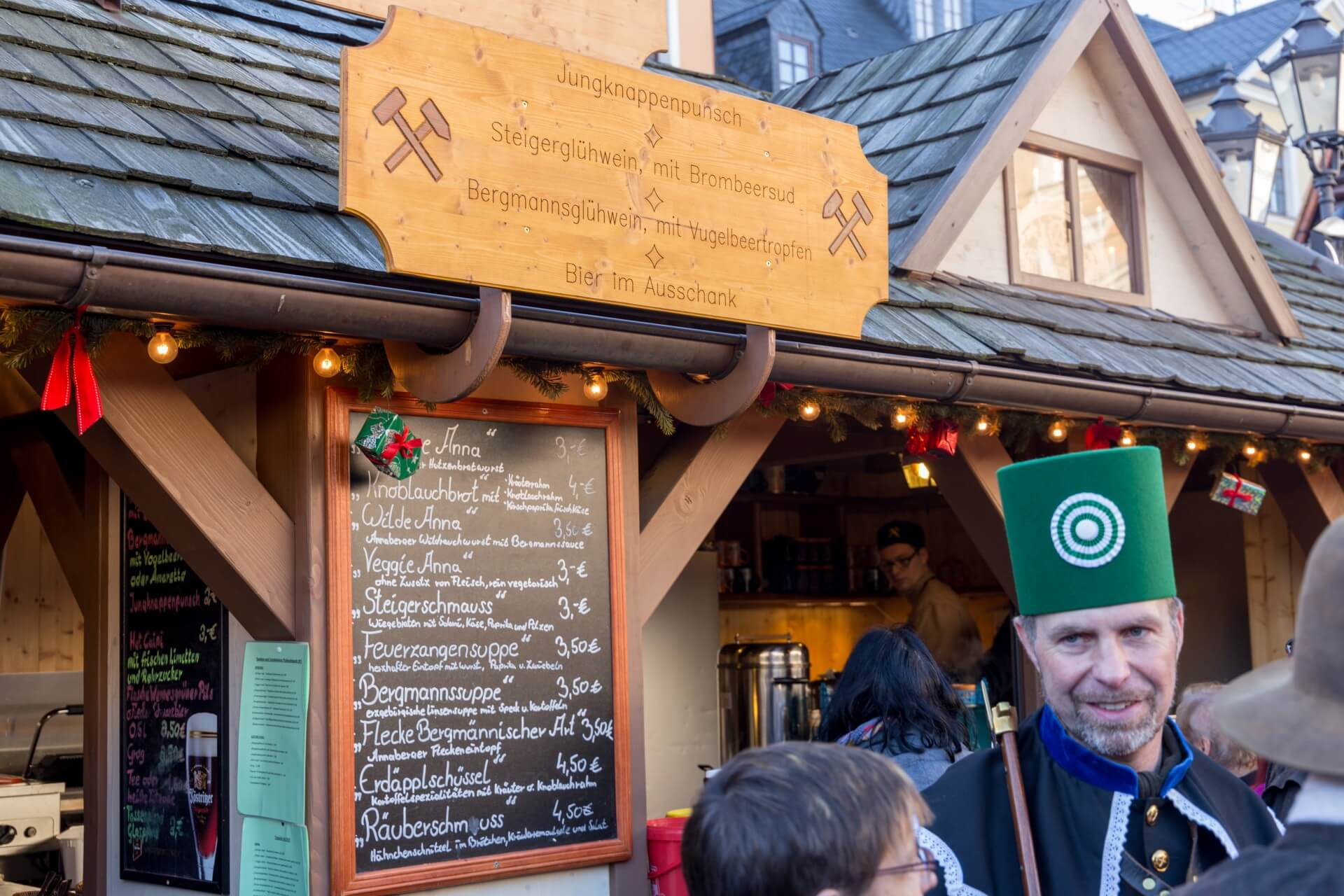 Essensstand Weihnachtsmarkt Annaberg-Buchholz