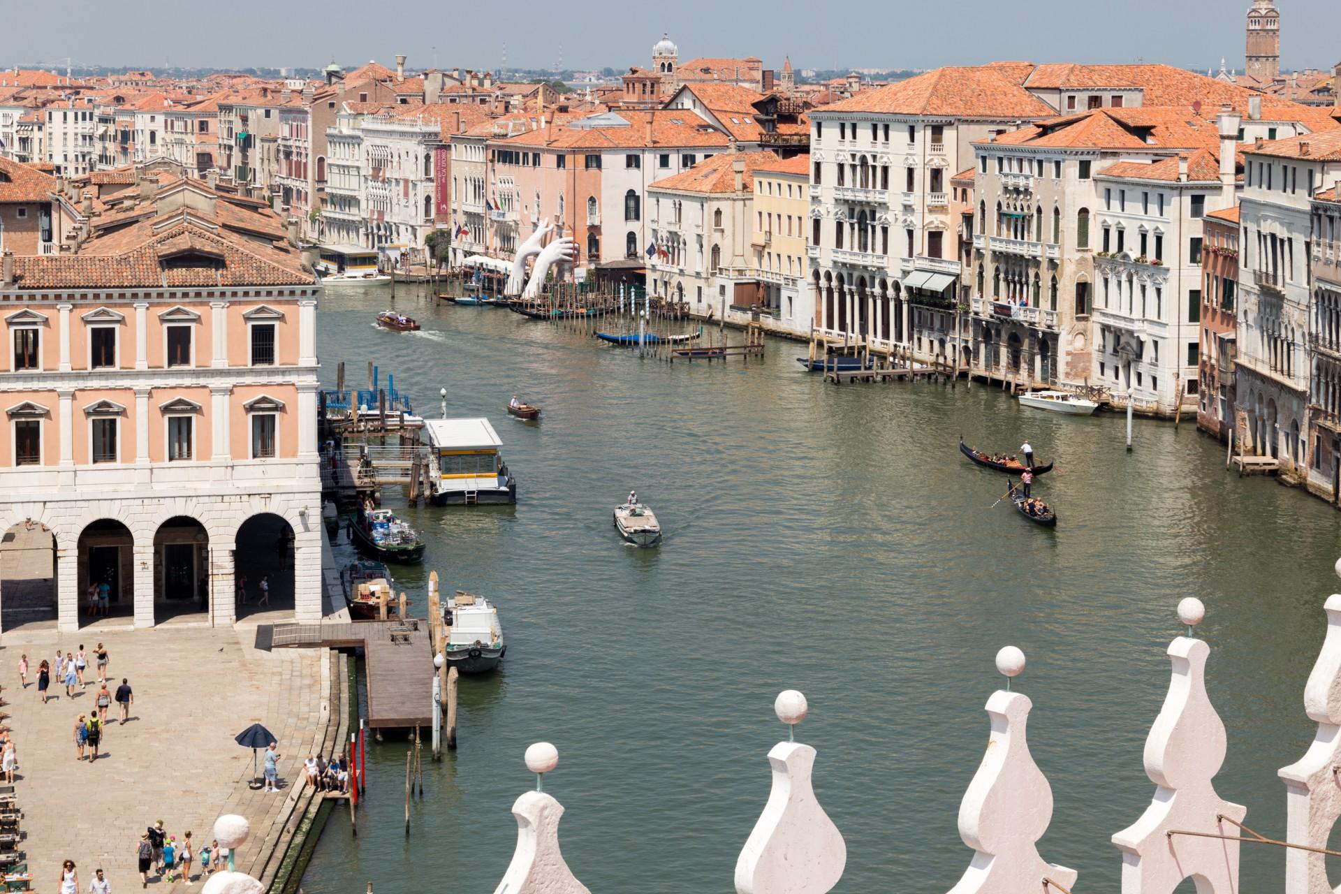 Blick vom Fondaco dei Tedesci in Venedig