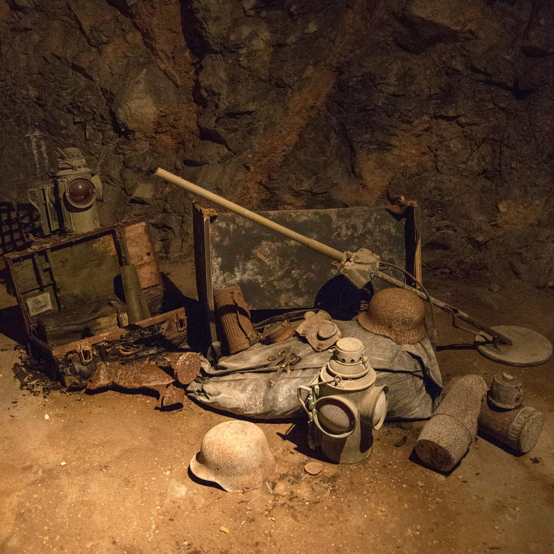 Deutsche Ausrüstung im Bunker