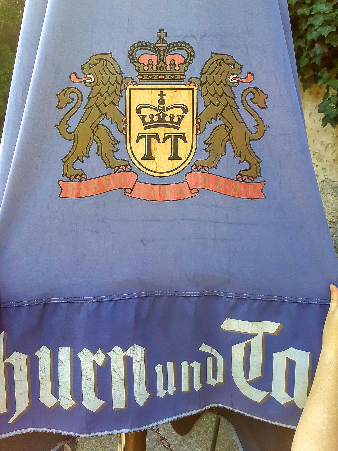 Thurn und Taxis Wappen auf dem Schirm