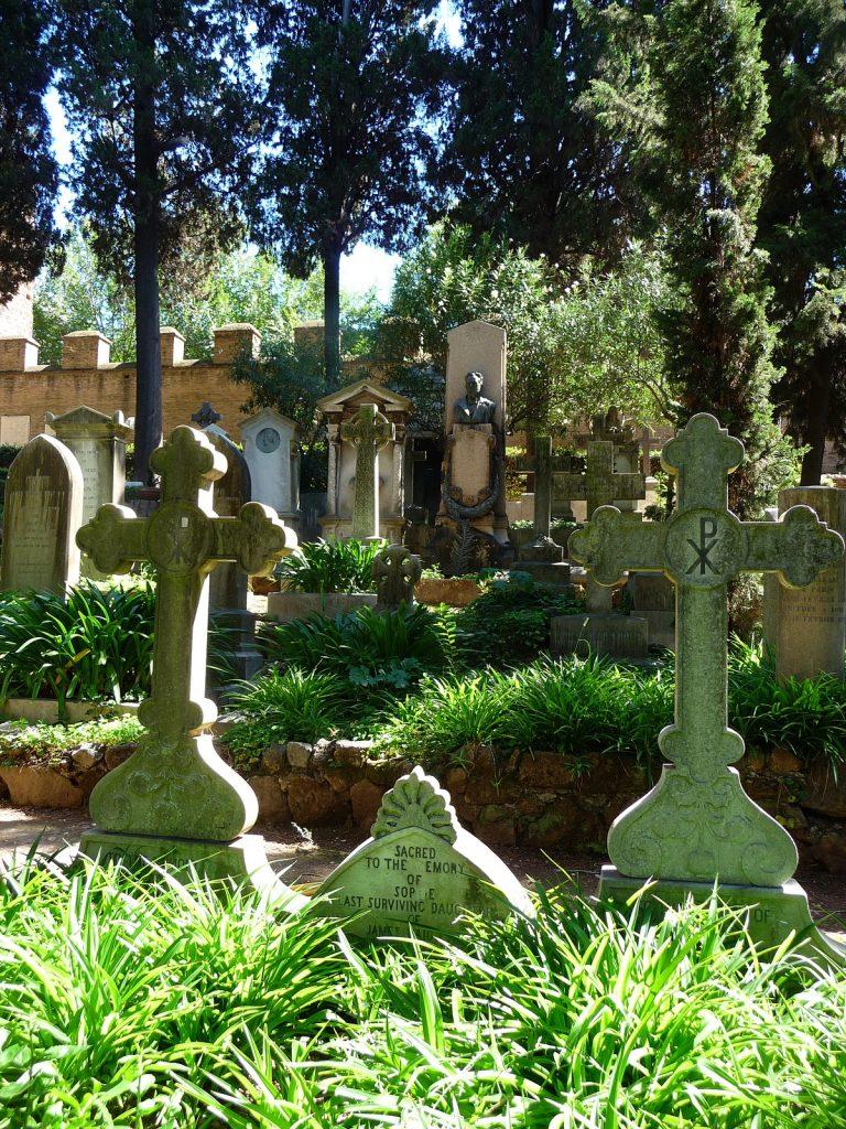 Der protestantische Friedhof, Rom