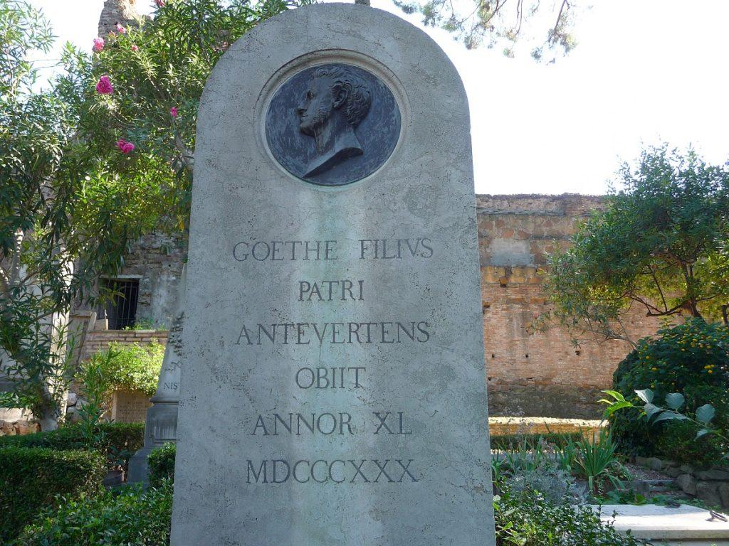 Protestantischer Friedhof, Rom, Goethe