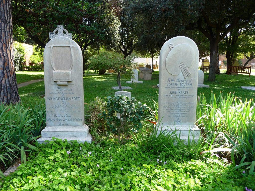 Protestantischer Friedhof, Rom, John Keats