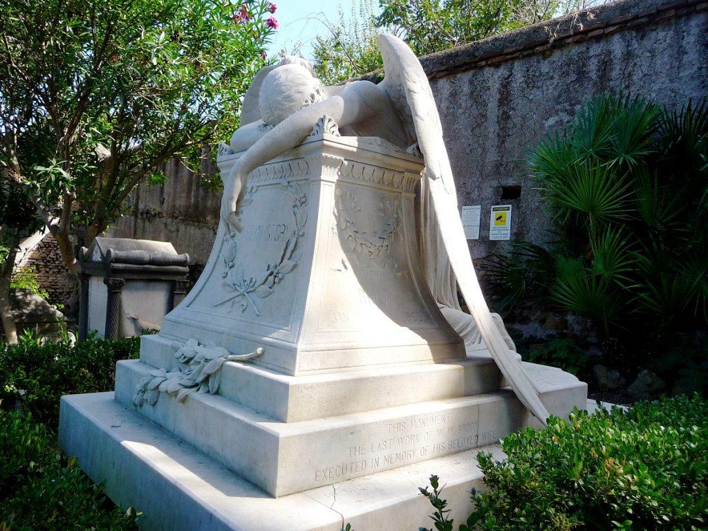 Protestantischer Friedhof, Rom, Engel der Trauer