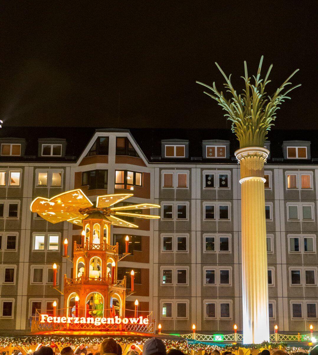 Feuerzangenbowle, Weihnachtsmarkt Leipzig