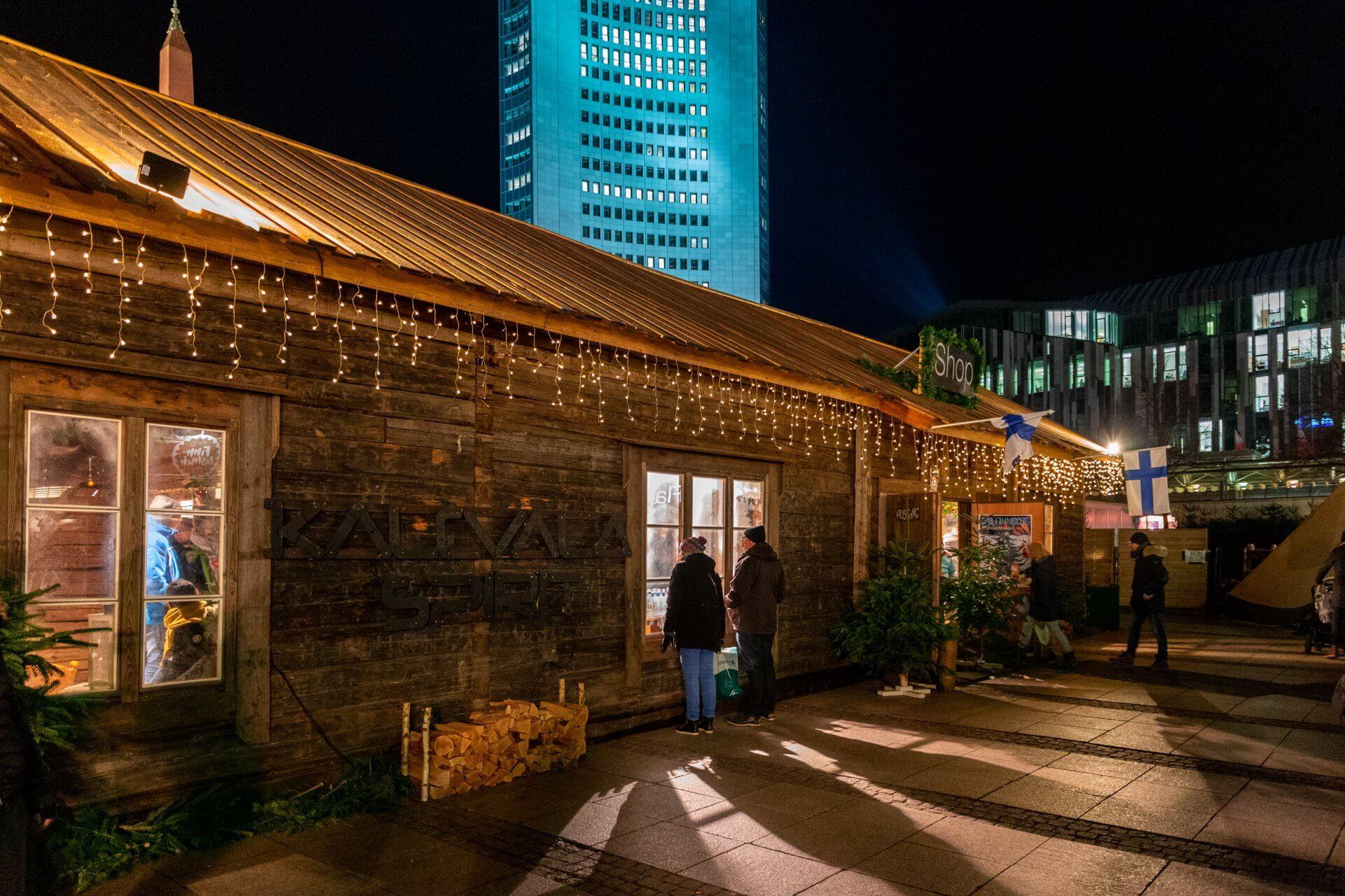 Finnisches Dorf auf dem Leipziger Weihnachtsmarkt
