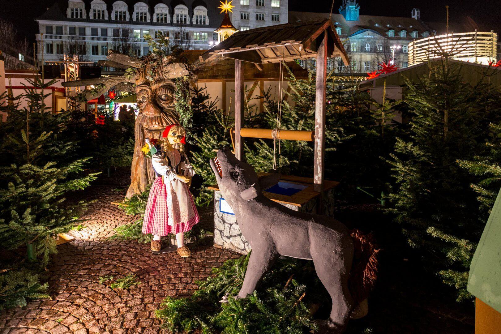 Märchenland auf dem Weihnachtsmarkt Leipzig