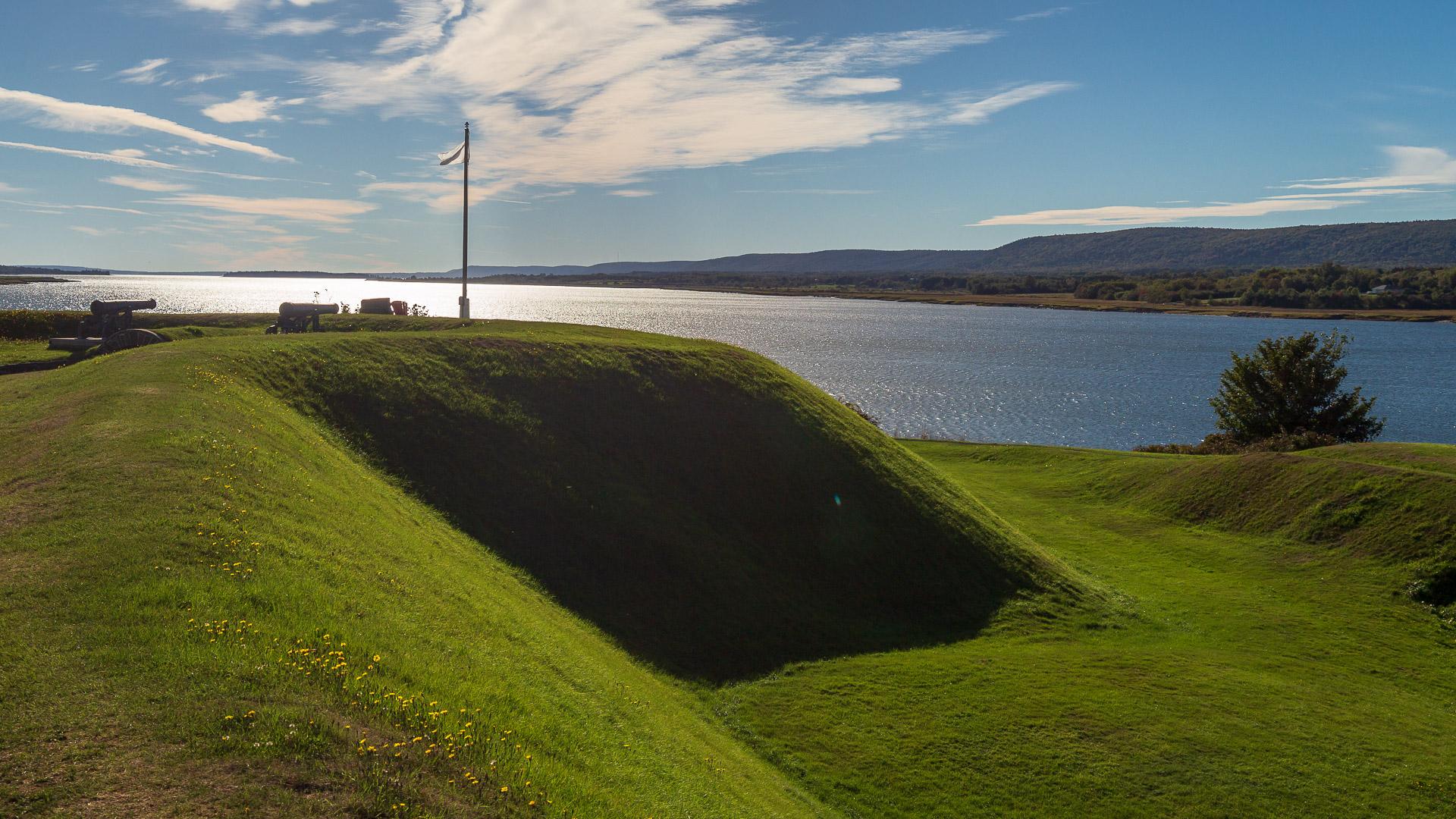Blick vom Wall auf die Bucht