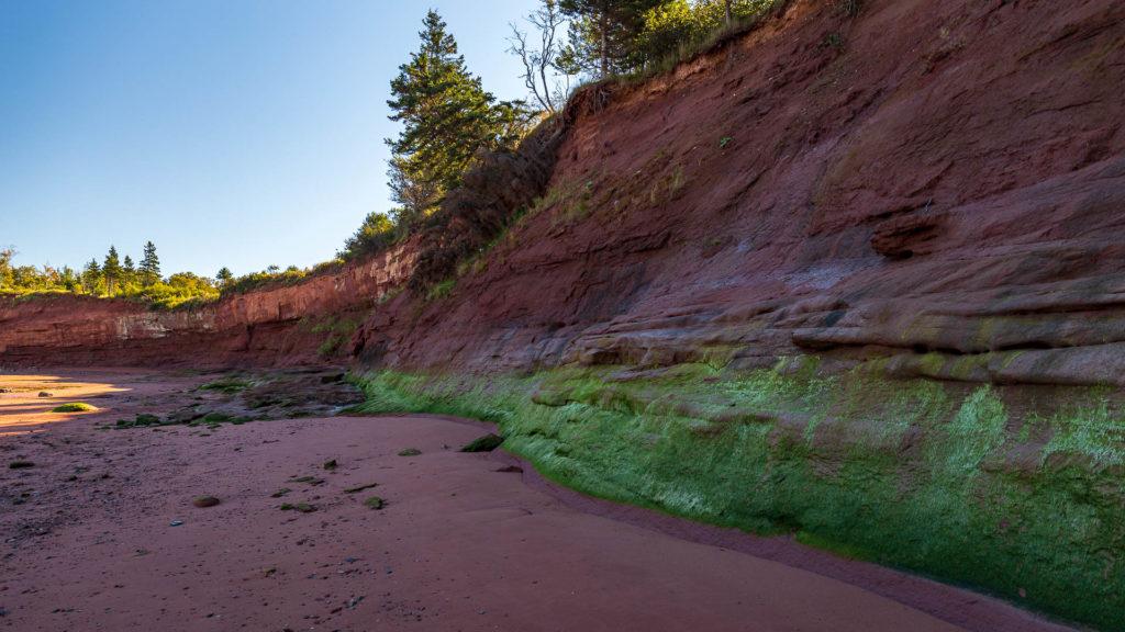 Abbruchkante der Küste
