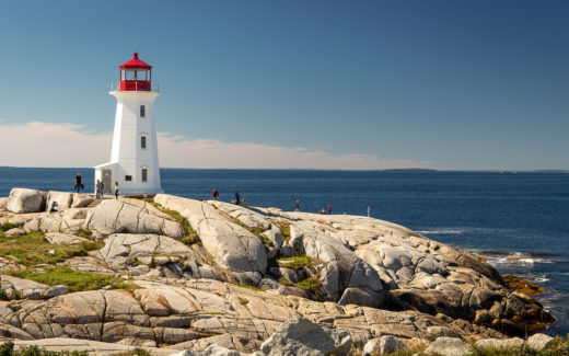 Der Leuchtturm an Peggy's Point in Peggy's Cove