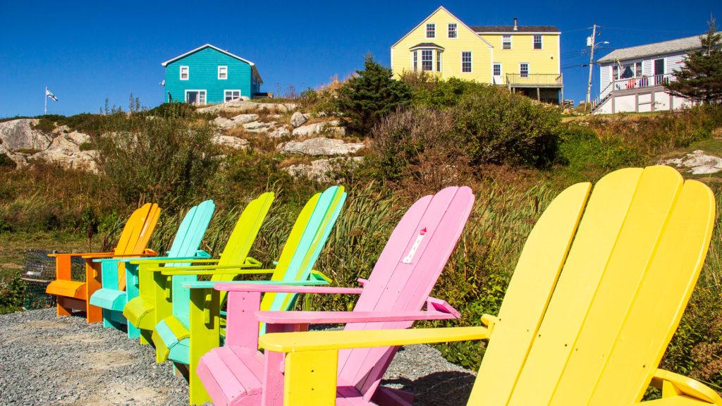 Die typischen Stühle in Nova Scotia